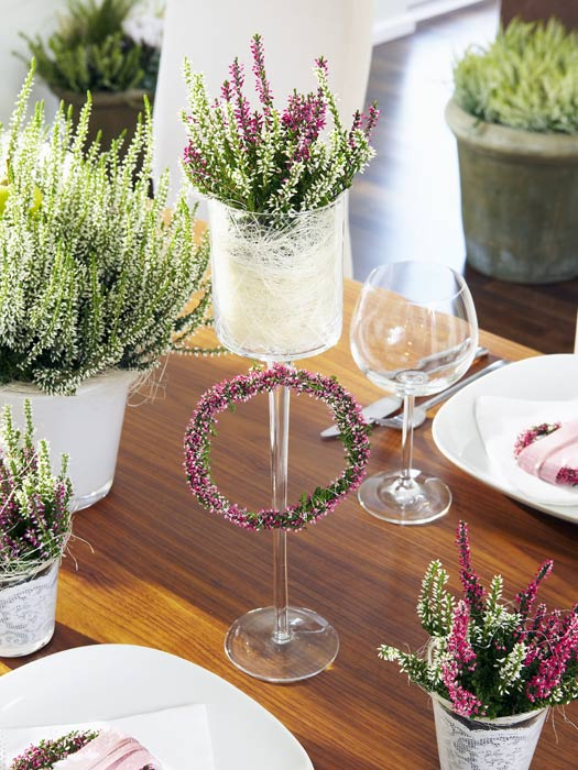 Tisch Dekorationen Mit Heide Heidetrends
