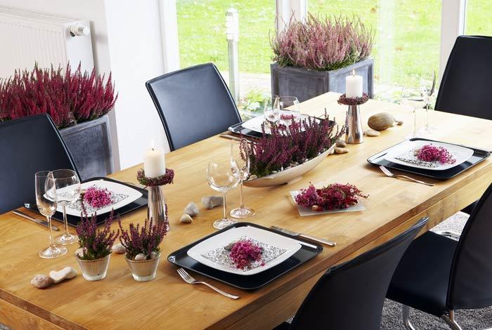 Tischdekoration Heidetrends