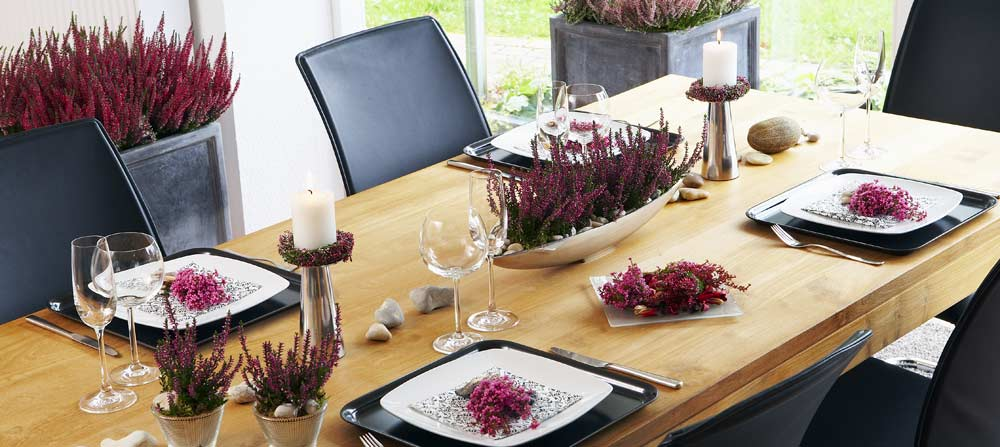 Tischdeko Modern tischdekoration heidetrends